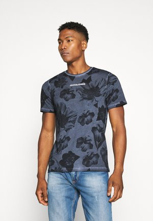 JCOFLOWER TEE CREW NECK - Camiseta estampada - navy blazer