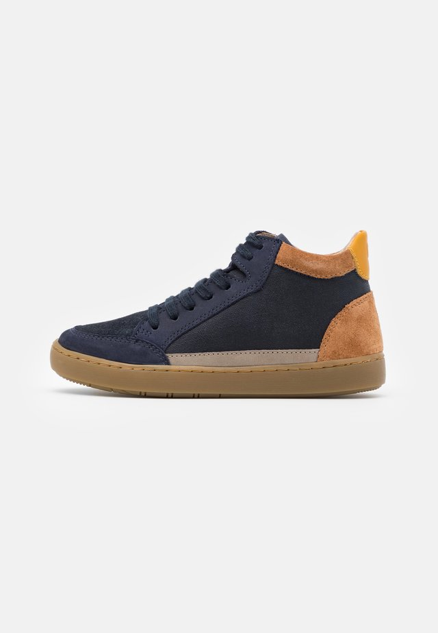 PLAY CONNECT - Zapatillas altas - navy/camel/mais