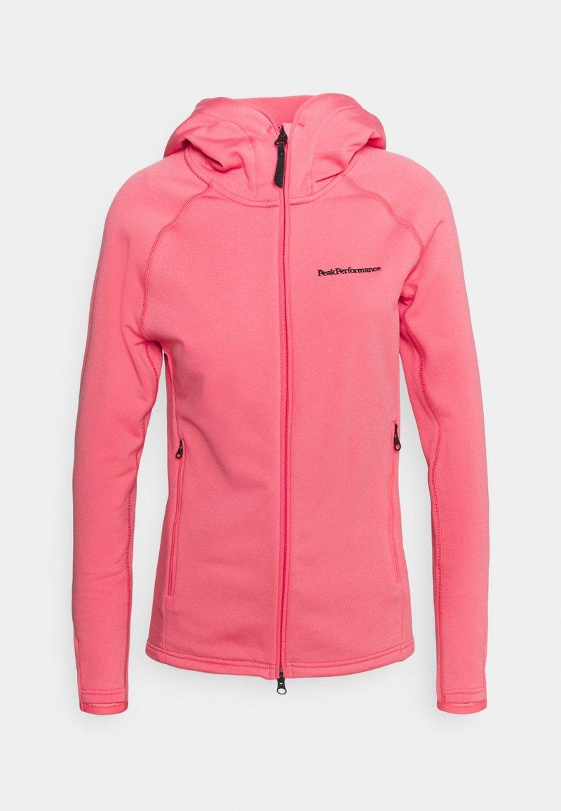Peak Performance - CHILL ZIP HOOD - Fleece jacket - alpine flower