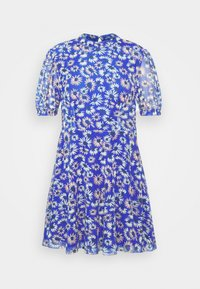 Glamorous Petite - EXCLUSIVE PRINTED PUFF SLEEVE - Denní šaty - blue - 4