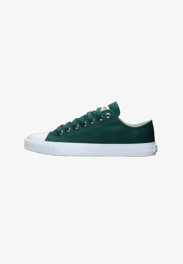 Sneakers laag - emerald velvet | just white