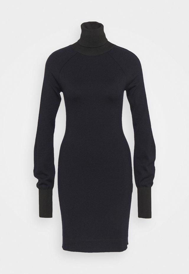 WOOLSHINE EVENING MINI JUMPER DRESS - Abito in maglia - navy/black