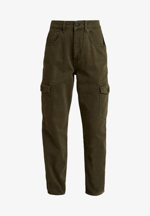 CRISTI CARGO CROP - Jeans Tapered Fit - army