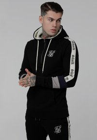 SIKSILK - OLD ENGLISH BORG QUARTER ZIP - Sweatshirt - black - 0