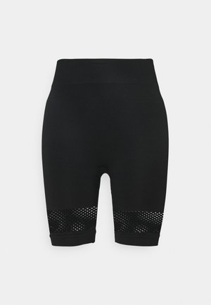 HIGH WAIST SHORTS - Punčochy - black