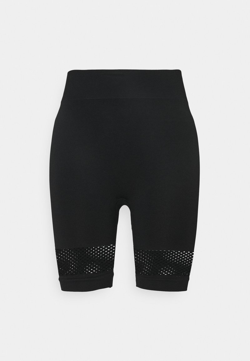 NU-IN - HIGH WAIST SHORTS - Leggings - black