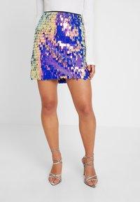 Missguided Petite - SEQUIN SKIRT - Minifalda - purple - 0