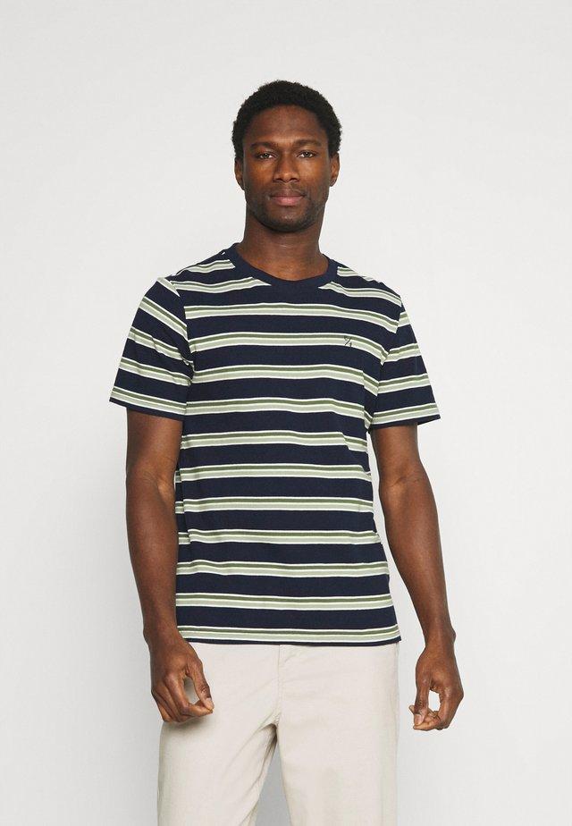 THOR STRIPE TEE - T-shirt print - navy blazer