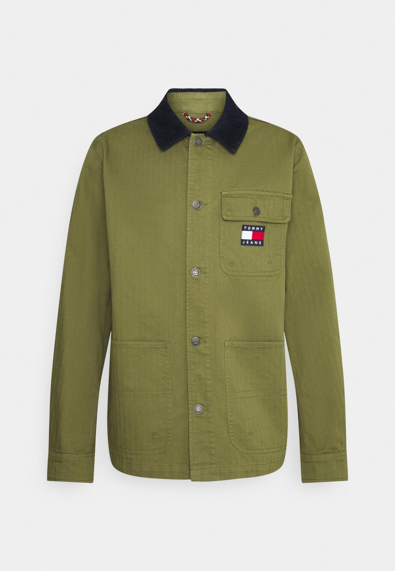 Tommy Jeans - BADGE WORKER JACKET - Giacca leggera - green