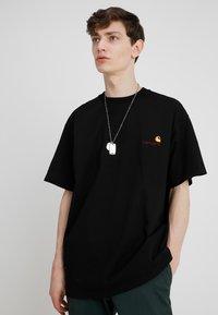 Carhartt WIP - AMERICAN SCRIPT  - Basic T-shirt - black - 0