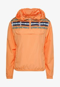 LADIES INKA PULL OVER JACKET - Windbreaker - papaya/white