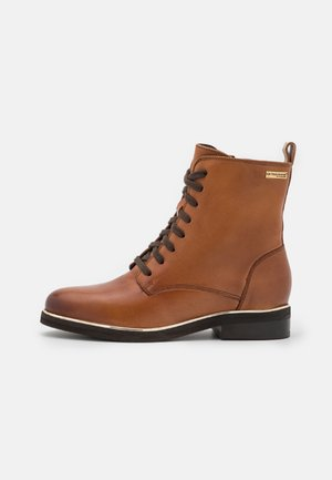 MATHILDE - Lace-up ankle boots - tan