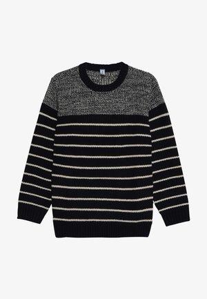 Pullover - dark blue/beige