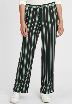 Kalhoty - schwarz/grün