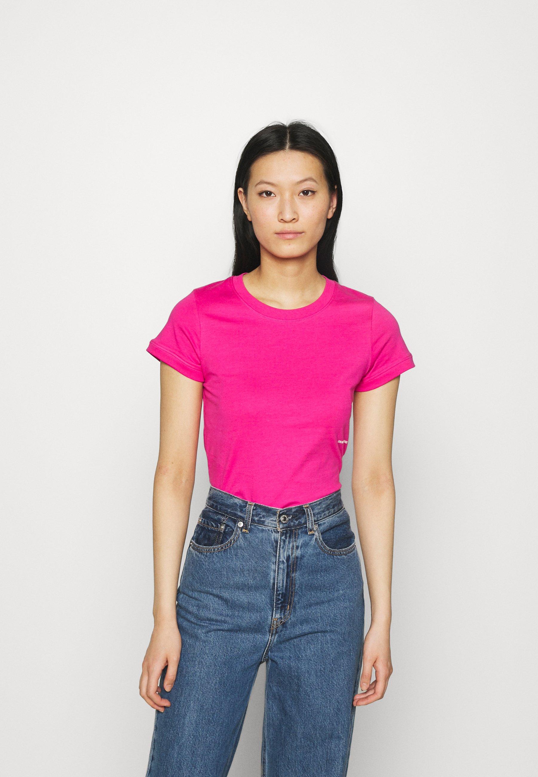 Damen MICRO BRANDING OFF PLACED TEE - T-Shirt basic