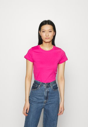 MICRO BRANDING OFF PLACED TEE - Basic T-shirt - party pink