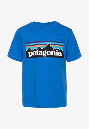 LOGO ORGANIC - Print T-shirt - bayou blue