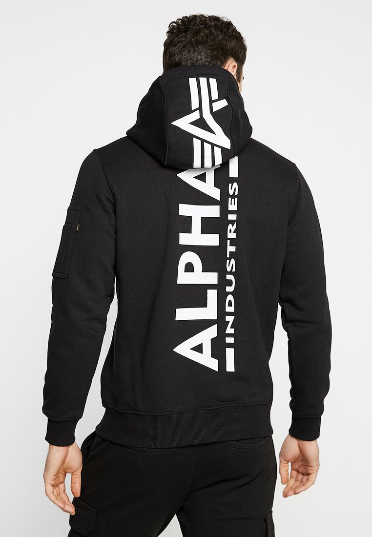 Alpha Industries - BACK PRINT HOODY - Hættetrøjer - black