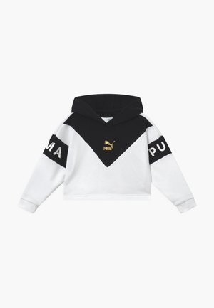 COLOR BLOCK HOODY - Bluza z kapturem - white/black