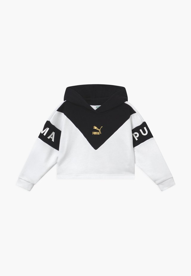 COLOR BLOCK HOODY - Hoodie - white/black