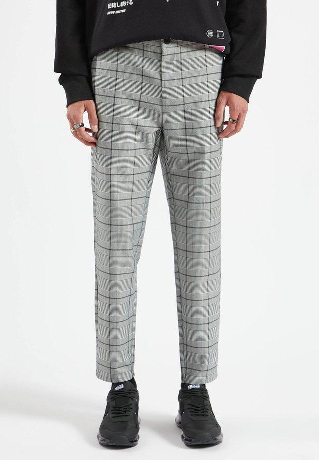 Chino kalhoty - mottled dark grey