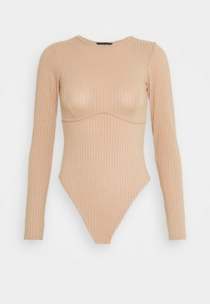 CARLEY SEAM DETAIL BODY - Long sleeved top - camel