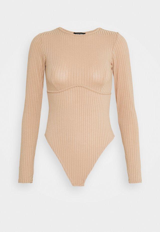 CARLEY SEAM DETAIL BODY - T-shirt à manches longues - camel