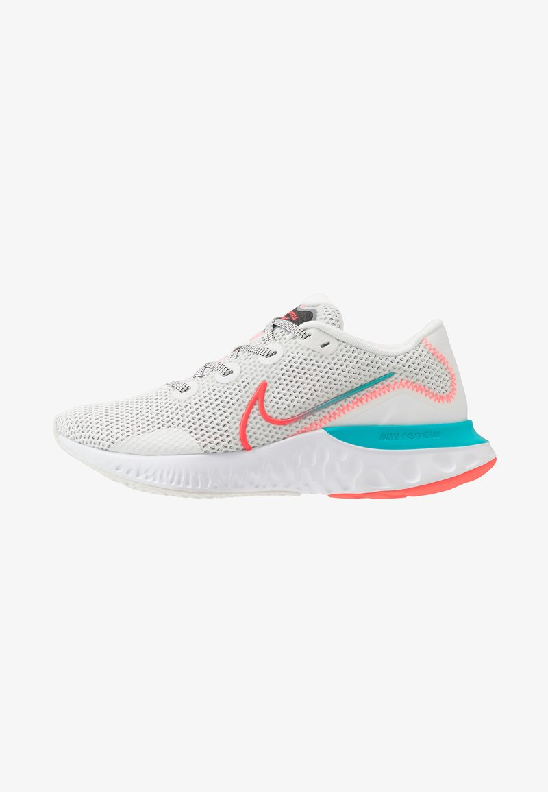 Nike Performance - RENEW RUN - Zapatillas de running neutras - summit white/flash crimson/oracle aqua