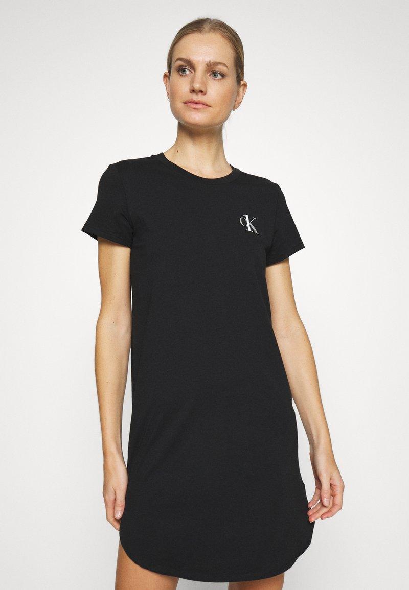 Calvin Klein Underwear - LOUNGE NIGHTSHIRT - Negligé - black