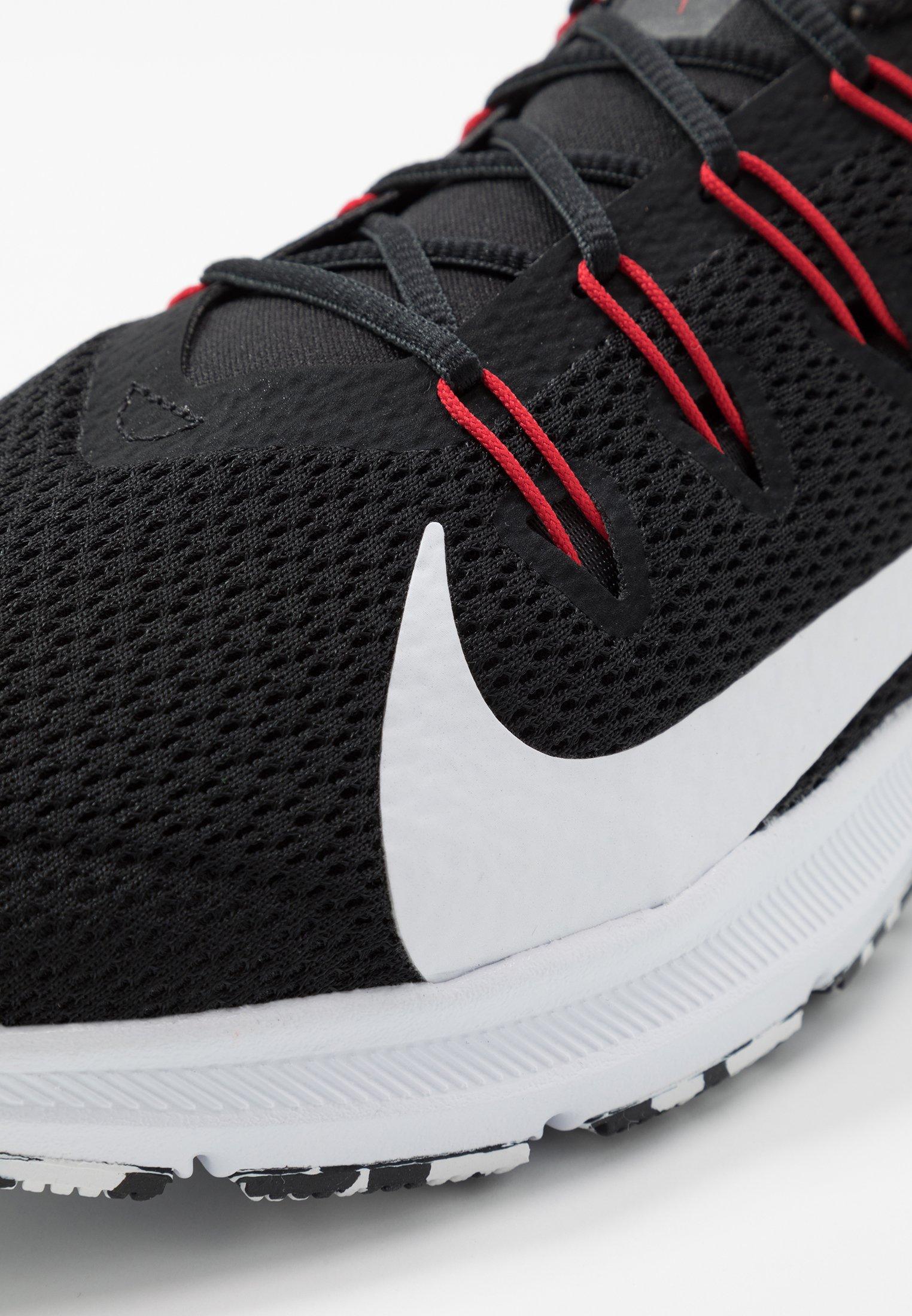QUEST 2 - Neutral running shoes - black/white/anthracite/university red