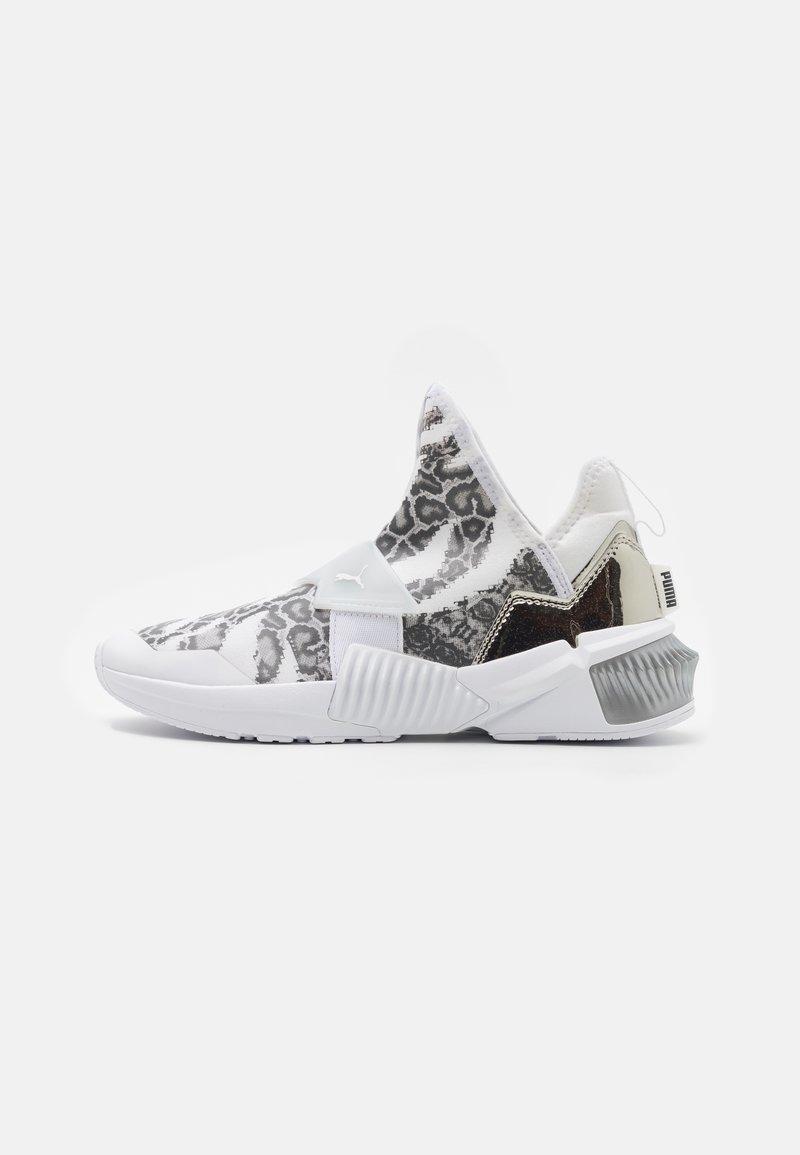 Puma - PROVOKE XT MID - Zapatillas de entrenamiento - white/metallic silver