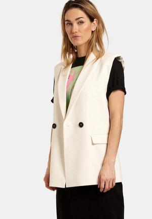 HOLLY BLAZER - Waistcoat - white