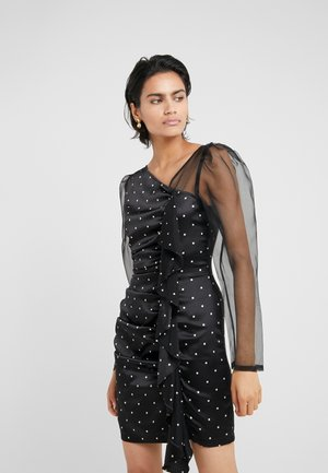 FALLON MIX DRESS - Juhlamekko - black/cream square