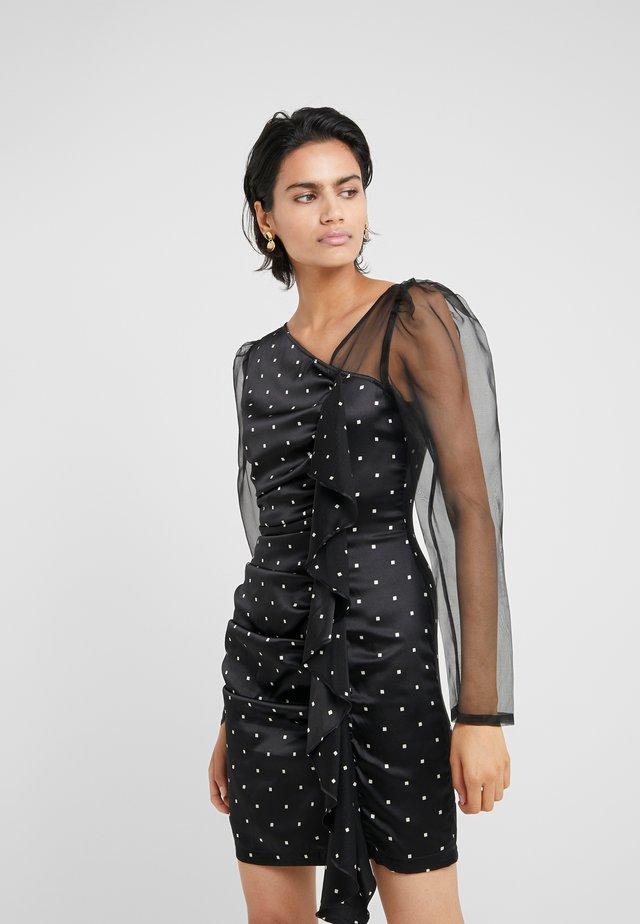 FALLON MIX DRESS - Cocktailjurk - black/cream square