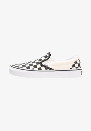 CLASSIC SLIP-ON - Półbuty wsuwane - black/white