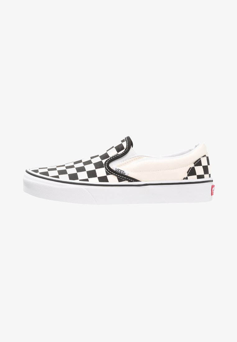 Vans - CLASSIC SLIP-ON - Loaferit/pistokkaat - black/white