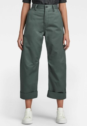 EVE 3D MID WIDE  - Trousers - graphite