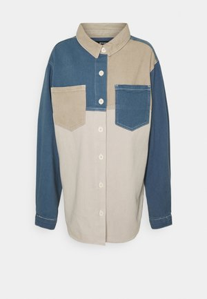 COLOURBLOCK OVERSIZED SHIRT - Skjorte - stone