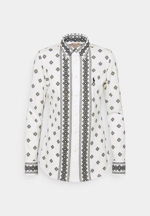 PRINTED OXFORD - Overhemdblouse - white