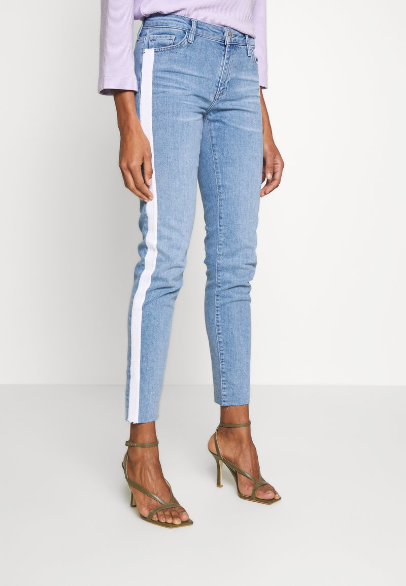 Rich & Royal - MIDI STRIPE - Jeans slim fit - denim blue