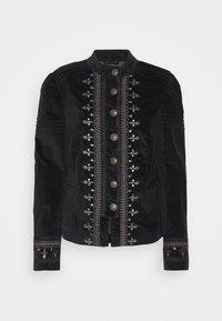 Free People - MAVEN PINTUCK JACKET - Light jacket - black - 0