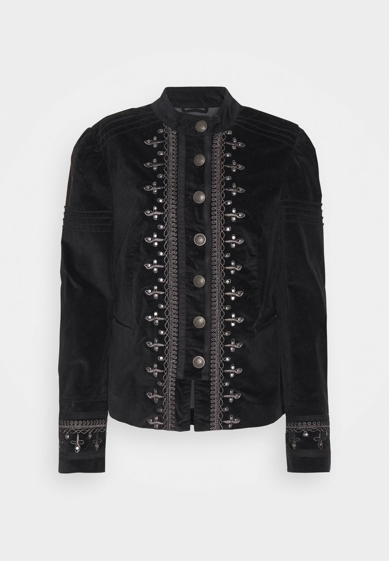 Free People - MAVEN PINTUCK JACKET - Light jacket - black