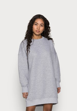 QUILTED DRESS - Day dress - grey