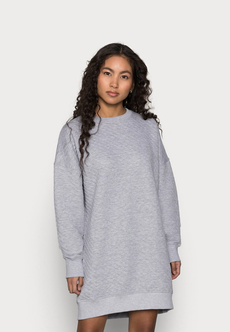 Missguided Petite - QUILTED DRESS - Day dress - grey