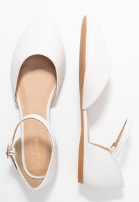 Pier One Wide Fit - Ankle strap ballet pumps - white - 3