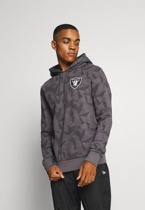 NFL OAKLAND RAIDERSGEOMETRIC CAMO HOODY - Zip-up hoodie - dark grey