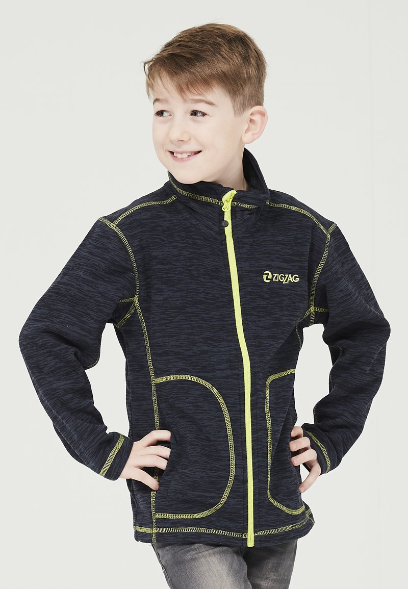 ZIGZAG - TAEBAEK KIDS ACTIV - Fleece jacket - 2048 navy blazer