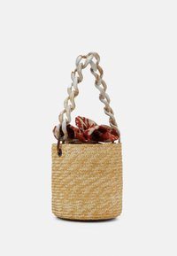 Hermina Athens - BASKET BROCADE MARBLE CHAIN - Handbag - natural/orange - 2