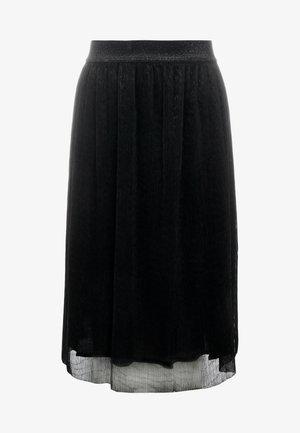 METALLIC DARIANE CECILIE SKIRT - A-line skirt - black