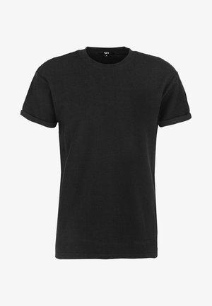 ZANDER JAQUARD - Basic T-shirt - black